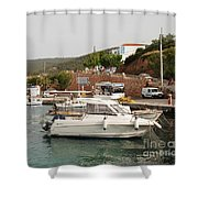 Milos On Agistri Island Shower Curtain