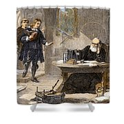 Milton And Galileo, 1638-39 Shower Curtain