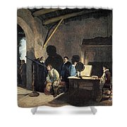 Milton Visiting Galileo Shower Curtain