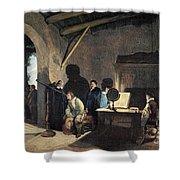 Milton Visiting Galileo Shower Curtain