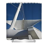 Milwaukee Art Museum Cropped Shower Curtain