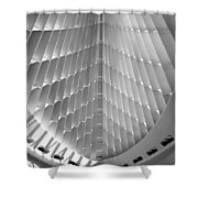 Milwaukee Art Museum Interior B-w Shower Curtain