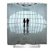 Milwaukee Art Museum Shadows Shower Curtain