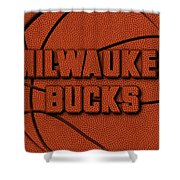Milwaukee Bucks Leather Art Shower Curtain