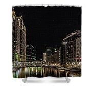 Milwaukee Downriver Shower Curtain