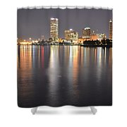Milwaukee Skyline 2012 Shower Curtain