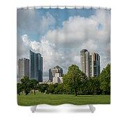 Milwaukee Skyline From Veterans Park 1 Shower Curtain