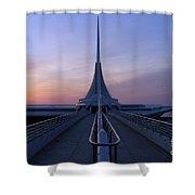 Milwaukee Sunrise 4 Shower Curtain