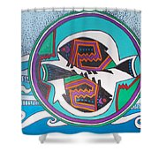 Mimbres Inspired #3a Shower Curtain
