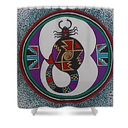 Mimbres Inspired #8a Shower Curtain