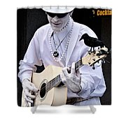 Mime And Guitar Shower Curtain
