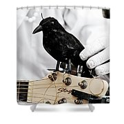Mime's Guitar Accompanist Shower Curtain