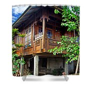 Minahasa Traditional Home 2 Shower Curtain