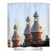 Minarets Over Tampa Shower Curtain by David Lee Thompson