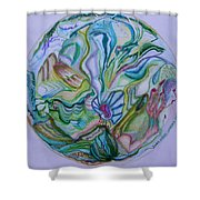 Mind Mandala Shower Curtain