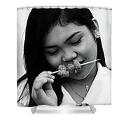 Mind Your Blouse Shower Curtain