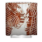 Minds Greeting - Tile Shower Curtain