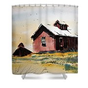 Mine Buildings Southern Cross Ghost Town Montana Shower Curtain