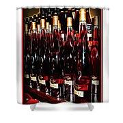 Miner Pink Sparkling Wine Shower Curtain