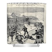 Miner Strike, 1888 Shower Curtain