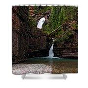Mineral Creek Falls Shower Curtain