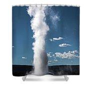 Old Faithful Eruption Shower Curtain by Mae Wertz