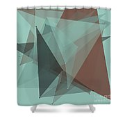 Mineral Polygon Pattern Shower Curtain