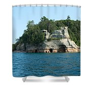 Miner's Castle On The Water Shower Curtain