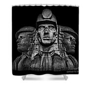 Miners In The Dark Shower Curtain