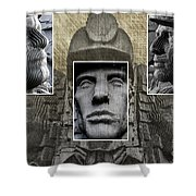 Miners Triptych Shower Curtain