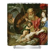 Minerva And Saturn Protecting Art And Science From Envy And Lies  Shower Curtain