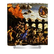 Minerva Chasing The Vices From The Garden Of Virtue 1502 Shower Curtain