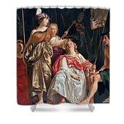 Minerva Crowns The Maid Of Leiden Shower Curtain