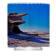 Mingan's Humanoid Monolith Shower Curtain