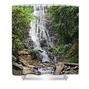 Mingo Falls In North Carolina Shower Curtain