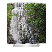 Mingo Falls In The Spring Shower Curtain
