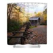 Mingus Mill Fall Color Great Smoky Mountains National Park Shower Curtain