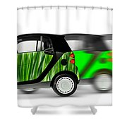 Mini Cars Shower Curtain