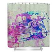 Mini Cooper Shower Curtain by Naxart Studio