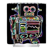 Mini D Robot Shower Curtain