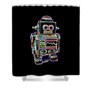 Mini D Robot Shower Curtain