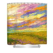 Mini Landscape V Shower Curtain