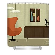 Mini Mosaics Shower Curtain