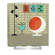 Mini Shapes Shower Curtain