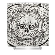 Skull Mandala Shower Curtain