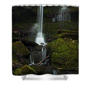 Mini Waterfall In The Forest Shower Curtain