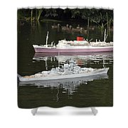 Miniature Boats Shower Curtain