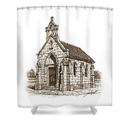 Miniature Church Of Froberville Shower Curtain