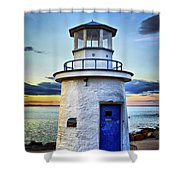 Miniature Lighthouse Shower Curtain