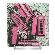 Miniature London Town Shower Curtain